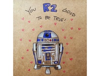R2D2 Valentine's Day Card
