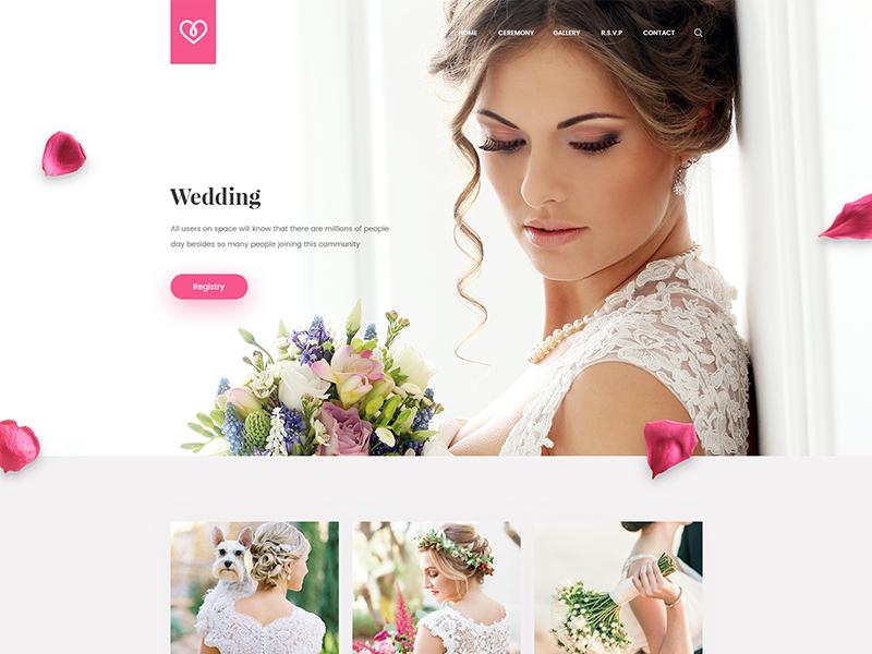 Wedding website ux ui webiste married woman man wedding