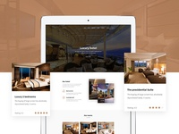 Luxury hotel website