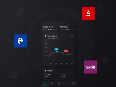 Finance app presentation on Behance