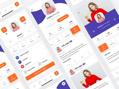 Social app icon ios ui ux app