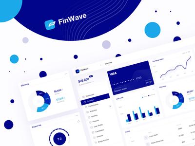 FinWave - finance dashboard WIP ux ui illustration dashboard landing app