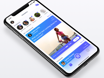 Council sketch ux ui mobile app messaging ios