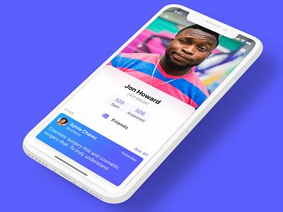 User Profile mobile app user ios iphone x ux ui profile