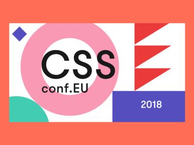CSSconf 2018 event slide tech festival graphic design conference css