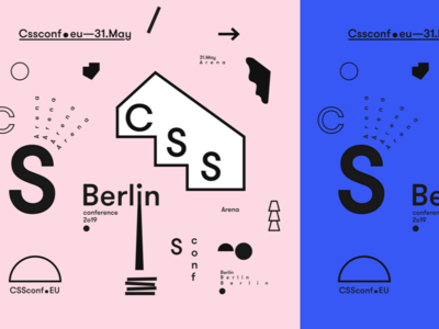 process CSSconf EU 2019 cssconf branding festival design conference design colour graphics conference