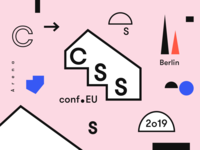 CSSconf EU logo design festival identity shapes ci branding graphic design conference