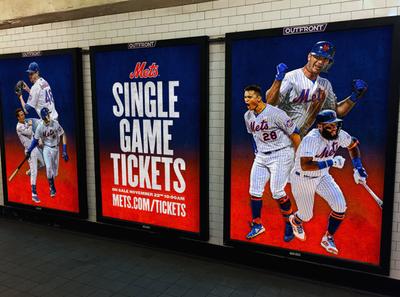 Mets 2020 Ticket On Sale Digital OOH campaign subway digital advertising design baseball mets