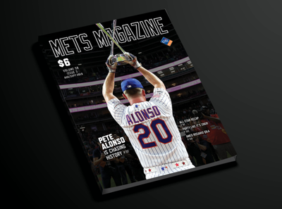 Mets Magazine Pete Alonso Approved Cover baseball mets design alonso publications magazine