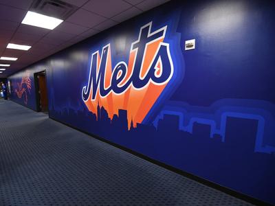 """""""Super Mets"""" Retro-Style Vinyl Art environment design environmental wall art illustration vector art vector vinyl baseball"""