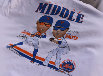 """""""Up The Middle"""" Vintage-Style Mets Free Shirt Friday throwback vintage apparel design mets baseball"""
