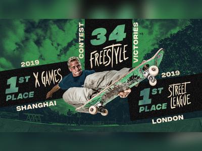 Skater Infographic gritty digital infographic skateboard skate