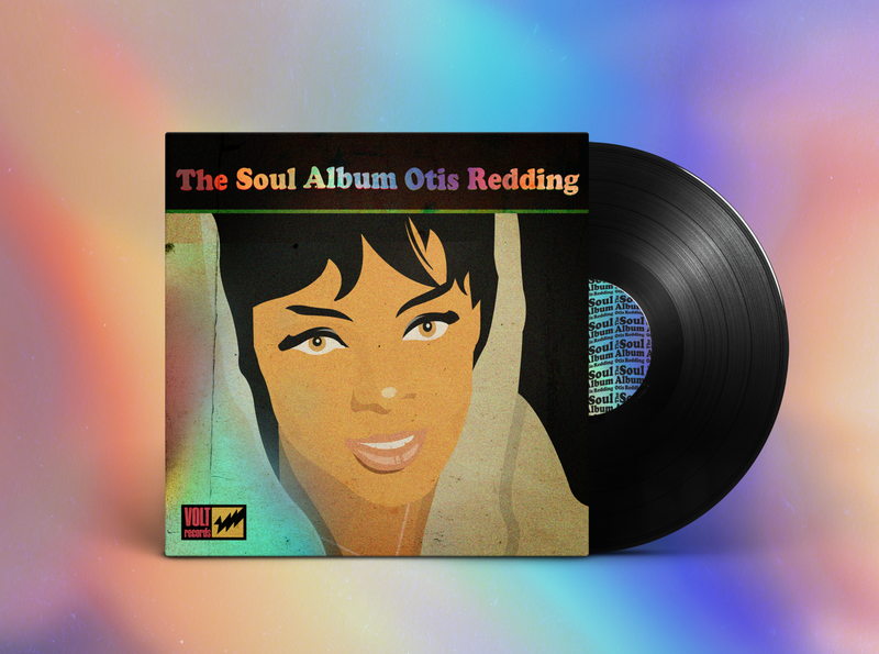 The Soul Album by Otis Redding mockup design holographic mockup soul album artwork album cover design album art music