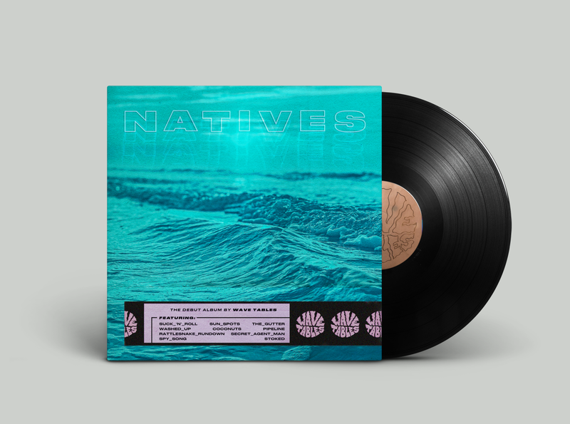 Wave Tables Vinyl Album Cover blue beach album cover album art surf music