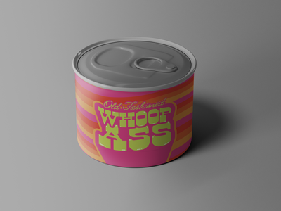 Old Fashioned Can of Whoop Ass branding groovy vintage retro packagingdesign packaging can