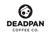 Deadpan Coffee Logo branding and identity skull bw logo black and white simple logo coffee branding design branding