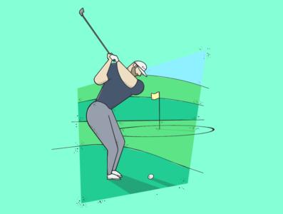 Dustin Johnson minimal ipad procreate illustration sports illustration sports sports design