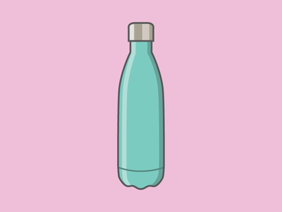 Swell vector illustrator swell waterbottle