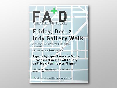 Fine Arts+Design Club Field Trip Poster art school graphic design print