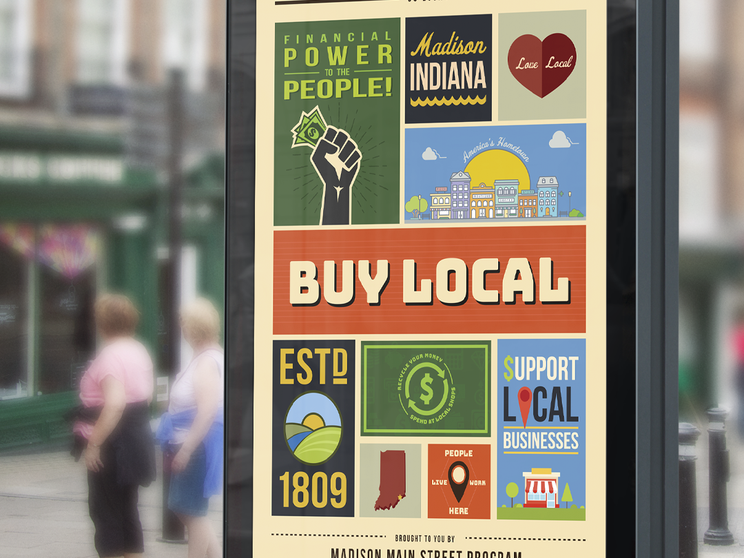 Madison Main Street Poster 2019 illustration design print graphic design
