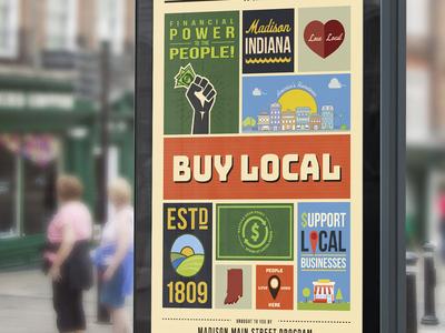 Madison Main Street Poster 2019 illustration design print graphic design