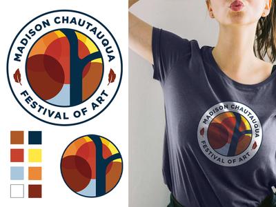 Arts Festival Logo Concept illustration print logo graphic design