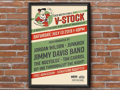 V-Stock Concert Poster vector illustration social media print graphic design