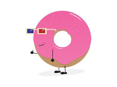 Doughnut Man pastry icing pink illustration man doughnut donut