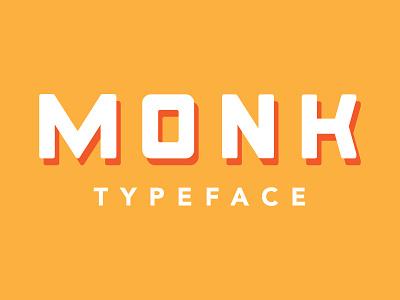 Monk Typeface font monk monospace display vintage seinfeld typeface