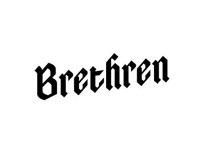 Brethren Brewing homebrewing beer type black letter black brethren brewing
