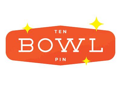 Ten Pin | Typeface font vegas sign alley neon retro bowl typeface