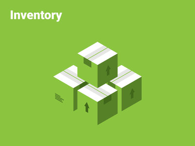 Inventory | OrderForge roboto ecommerce commerce order distribution inventory icon isometric
