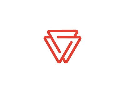 Triangle Icon red icon logo consulting triangle