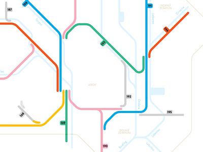 Railways modernist modernism vector design illustration diagram map railway subway vignelli