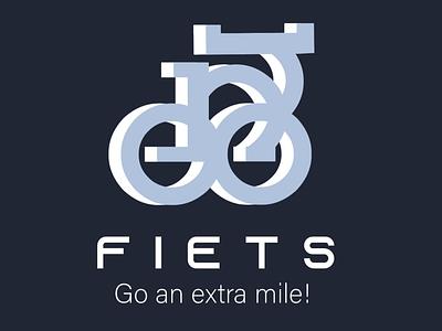 FIETS logo typography branding graphic design design