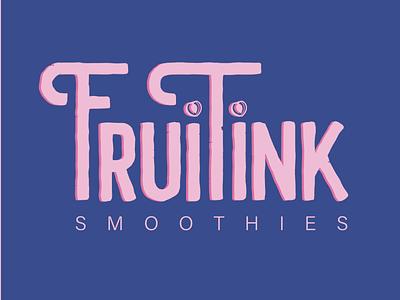 Fruitink logo vector typography branding graphic design design