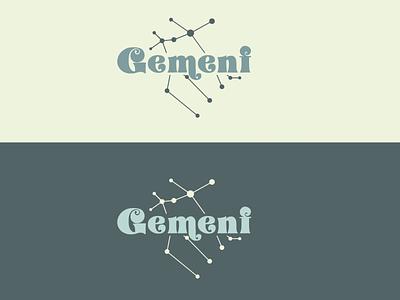 Gemeni vector typography logo branding graphic design design