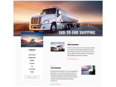 Logistics Company / Website web design web ux ui typography website site flat