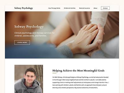Solway Psychology / Website website site web ui typography navigation menu design flat clean