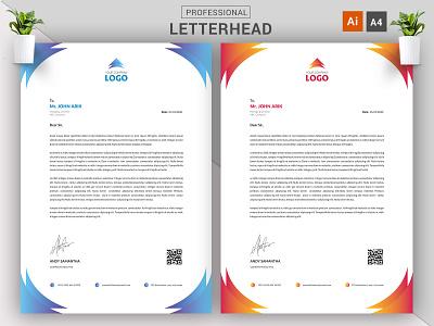 Gradient Letterhead Concept Design || A4 Letterhead Download cv eps ai illustrator letterhead vector company branding agency modern template download business creative corporate