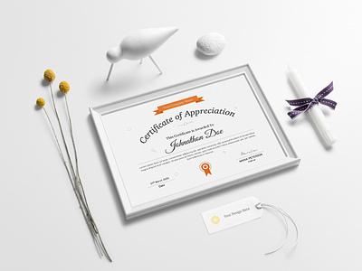 Certificate Template Design || Microsoft Word Certificate word print pdf paper ornaments ornament multicolor modern graduation frame excellence elegant docx doc diploma decorative corporate certificate achievement