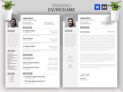 CV/Resume Concept Design || CV/Resume Word Docx Template corporate business job free docx word modern download ui creative resume template resume cv cv template cv design