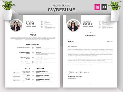 CV/Resume Concept Design V3 || CV/Resume Indesign print free cv resume job indd indesign cv template resume modern download corporate business creative