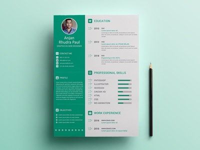 Personal CV/Resume Concept Design by Anjan Rhudra Paul ✪   Dribbble
