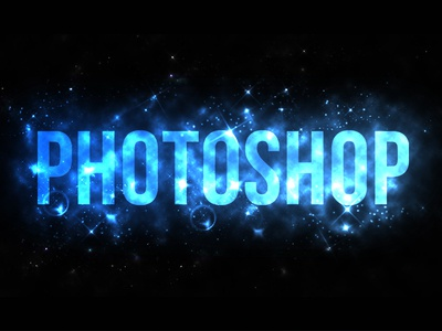 Photoshop Glowing Text Effect
