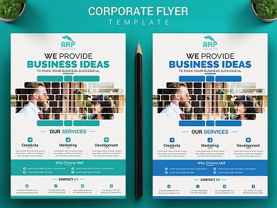 Corporate Flyer Template Download modern marketing ideas flyer design creative corporate company business branding blue agency