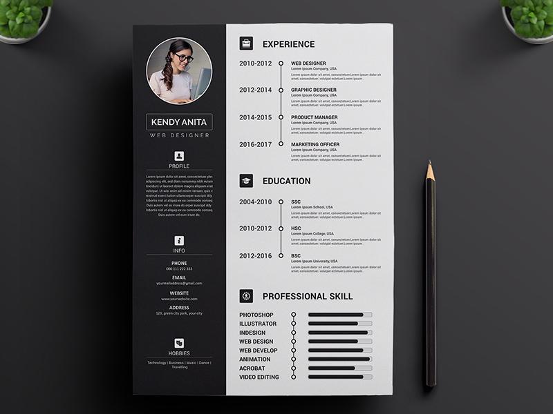 Resume Concept Design Resume Download By Anjan Rhudra Paul On Dribbble