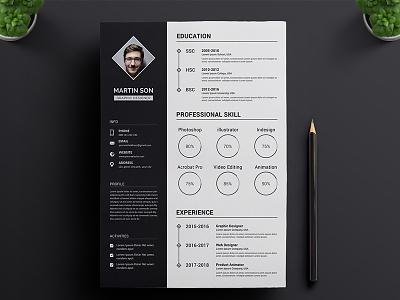 Resume Concept Design vol.2 || Resume Download cv resume download concept freebie premium web ux ui resume builder portfolio template