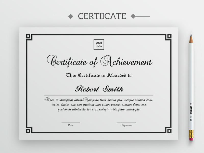 premium certificate template by anjan rhudra paul dribbble