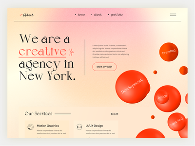 Upgrid Agency brandinglogo user interface ux uiux motion graphics graphics web design product design header design webdesign landingpage landi agency